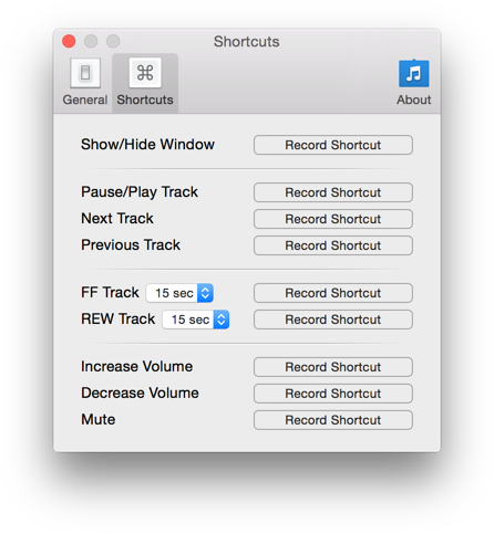 iTunes Keyboard Shortcuts