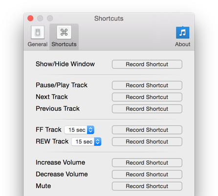 Spotify keyboard shortcuts